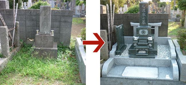 お墓の総リフォームイメージ