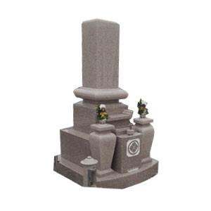 桜小目石和型墓石