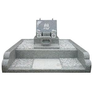 白御影石外柵+洋型墓石