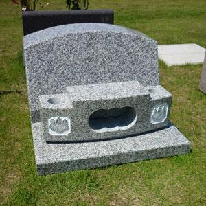 623白御影石洋型墓石建墓例