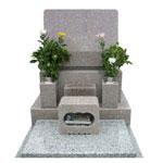 桜小目石洋型墓石