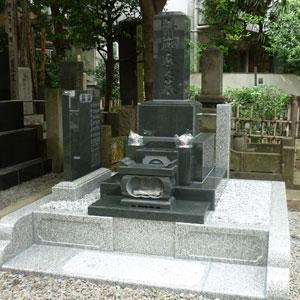 河北山崎和型墓石建墓例