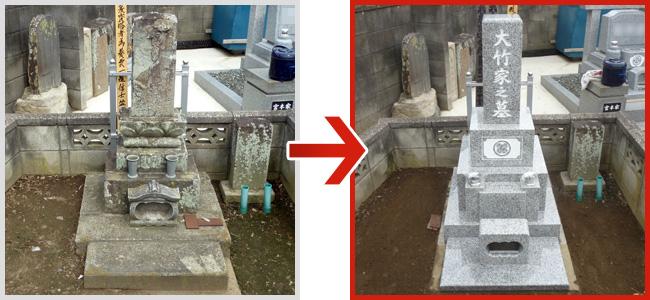 墓石リフォーム実績