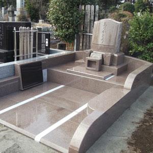 スウェーデンマホガニ洋型墓石