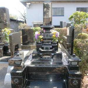 インド牡丹和型墓石
