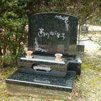 インド牡丹デザイン墓石
