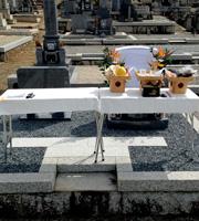 愛知の墓石と巻石セット