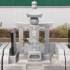 白御影石 五輪塔の建立例1