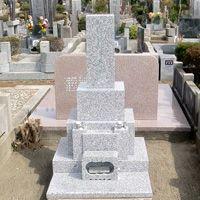 白御影石和型墓石