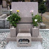 663桜小目石洋型墓石