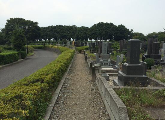 新座市営墓園外周