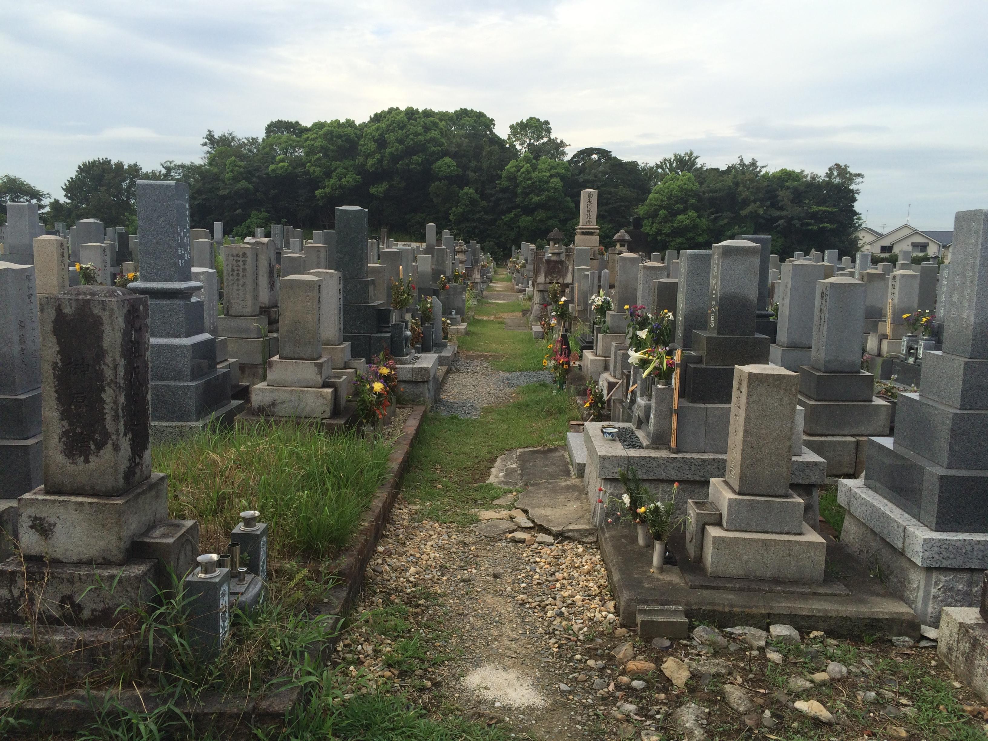 北谷墓地全景