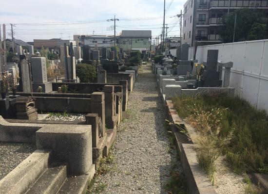 諏訪入墓地